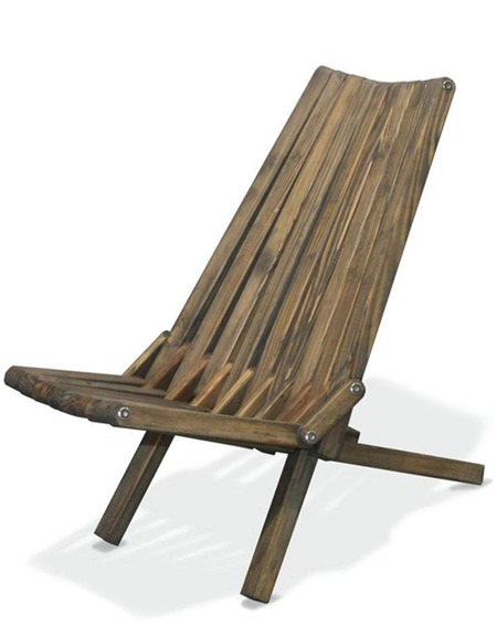 GloDea Modern Wood Lounge Chairs