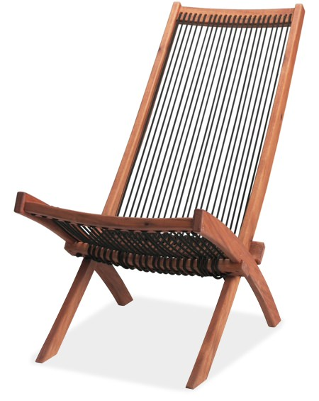 Ikea Brommo Acacia Wood Chaise