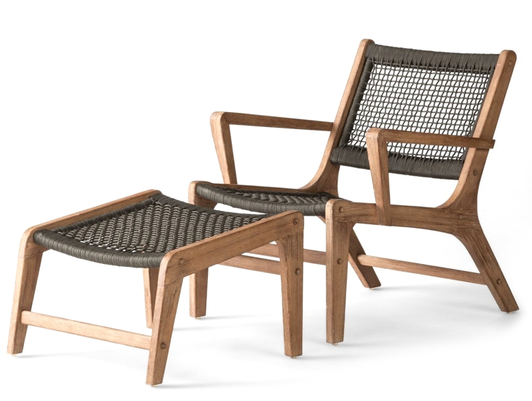Project 62 Wood and Rope Club Chair