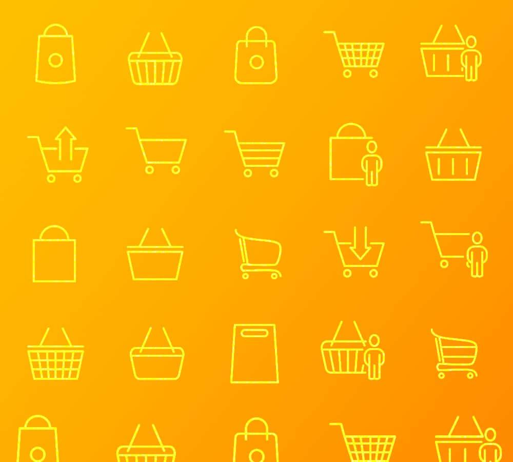 Online shopping cart illustrations