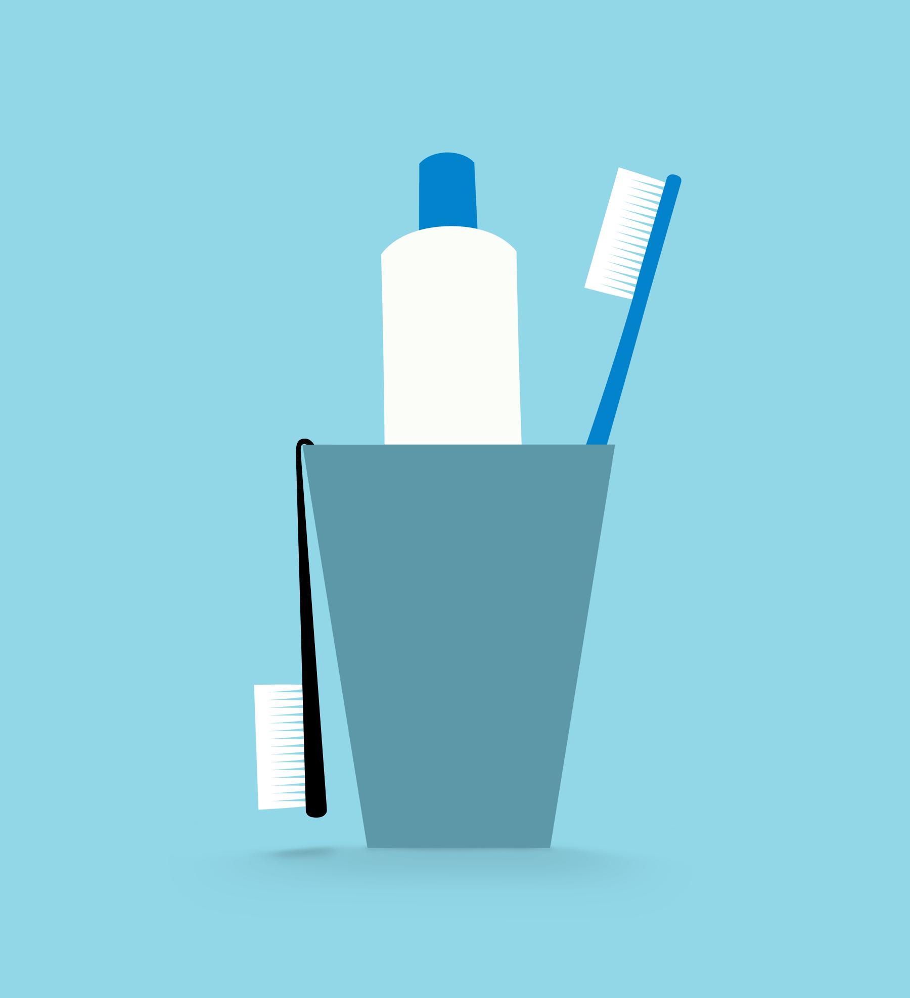 Limp toothbrush