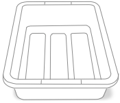 Airport security bin