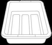 Airport security bin