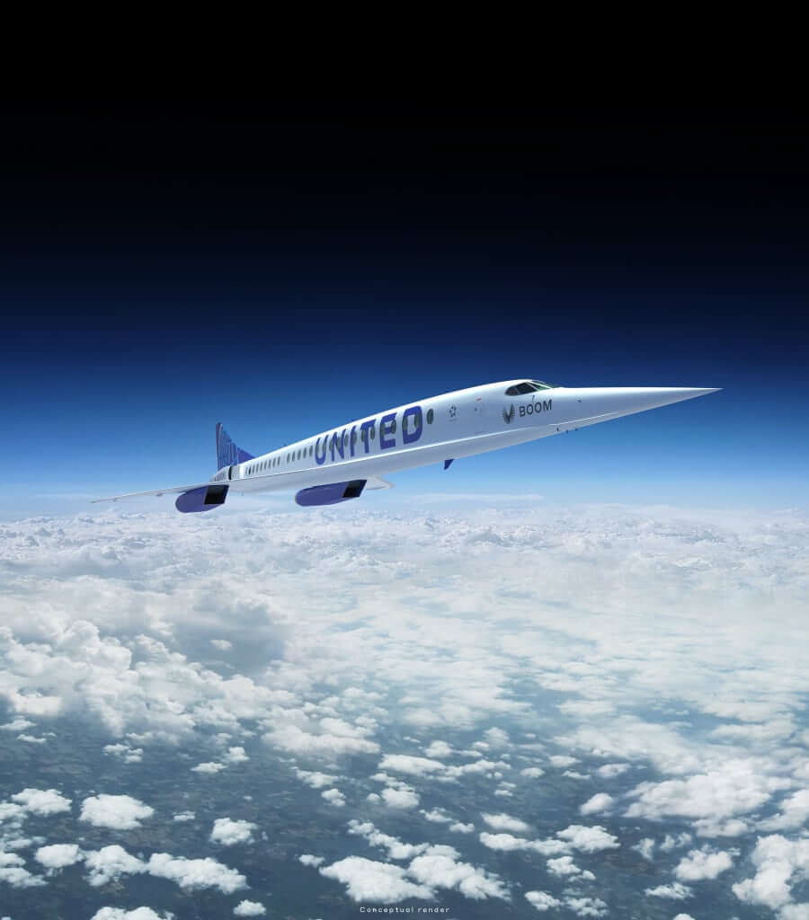 United Airlines Boom Supersonic prototype