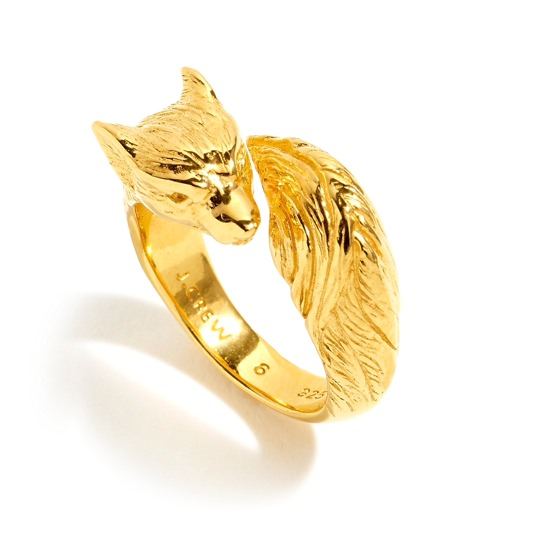 J.Crew 14k Gold-Plated Fox Ring