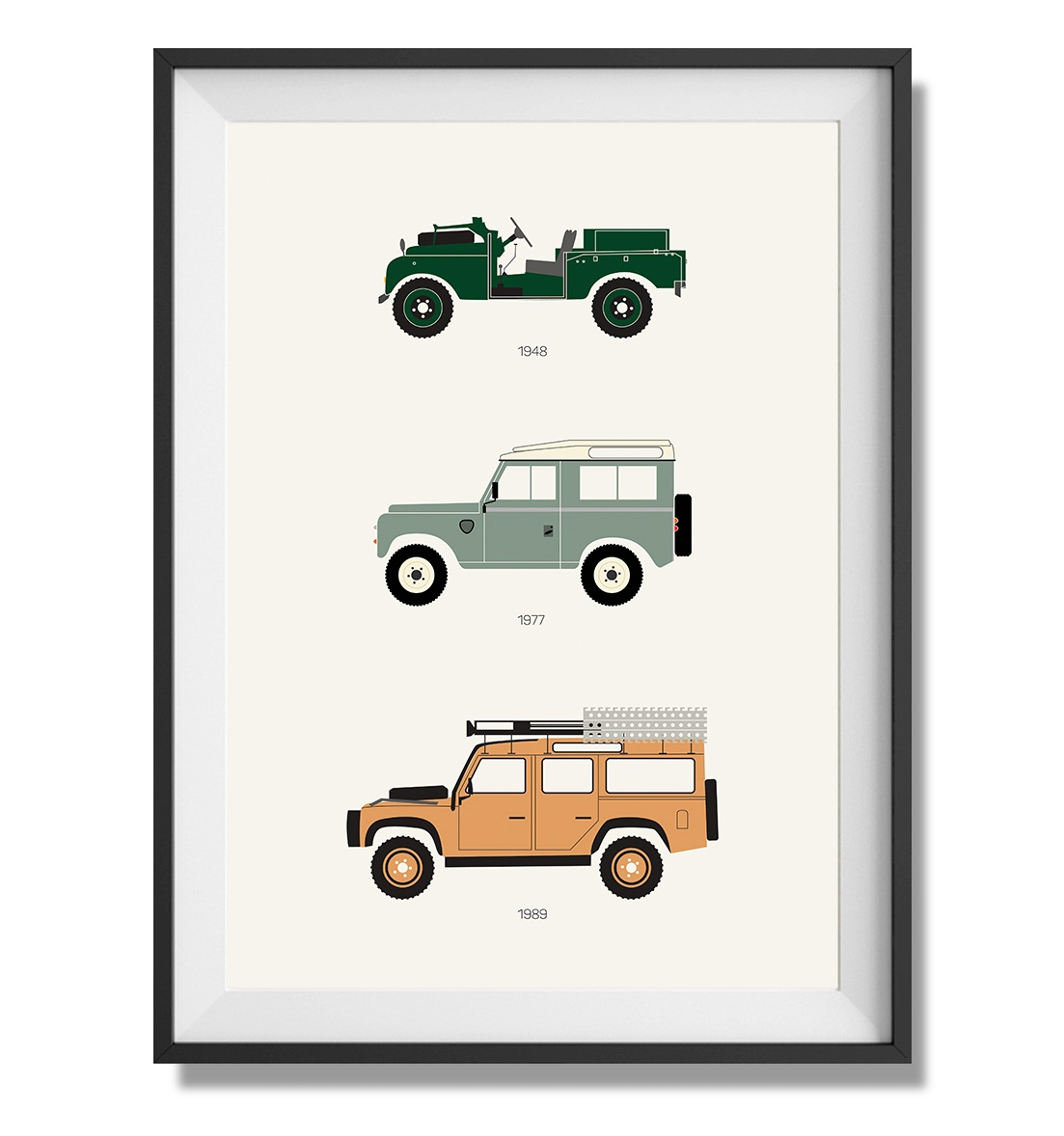 Petrolicious Defender Rear View Print