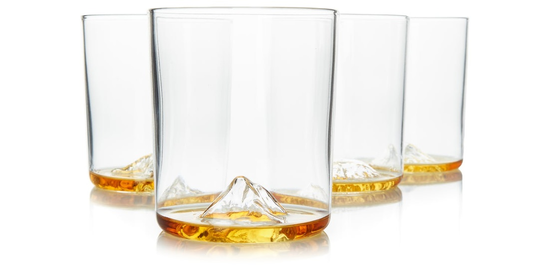 Huckberry Whiskey Peaks International Glass Set