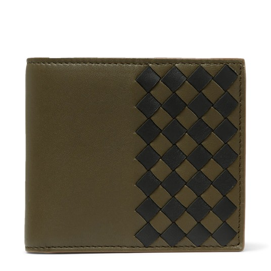 Bottega Veneta Two-Tone Intrecciato Leather Billfold