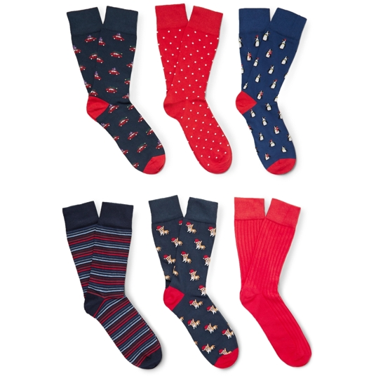 Corgi Cotton Socks Six-Pack