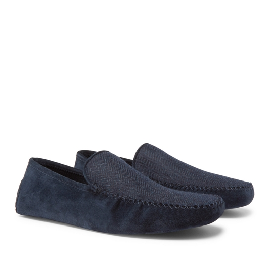 Loro Piana Suede and Cashmere Slippers
