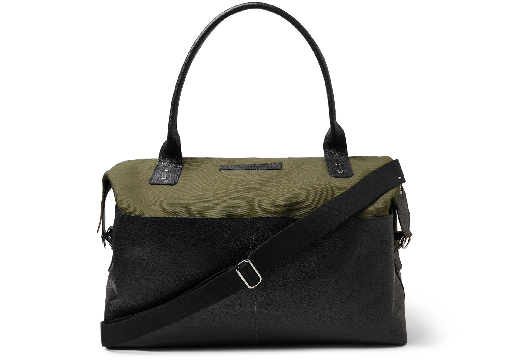 Oliver Spencer Leather and Canvas Holdall