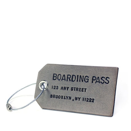 Boarding Pass Custom Leather Luggage Tag