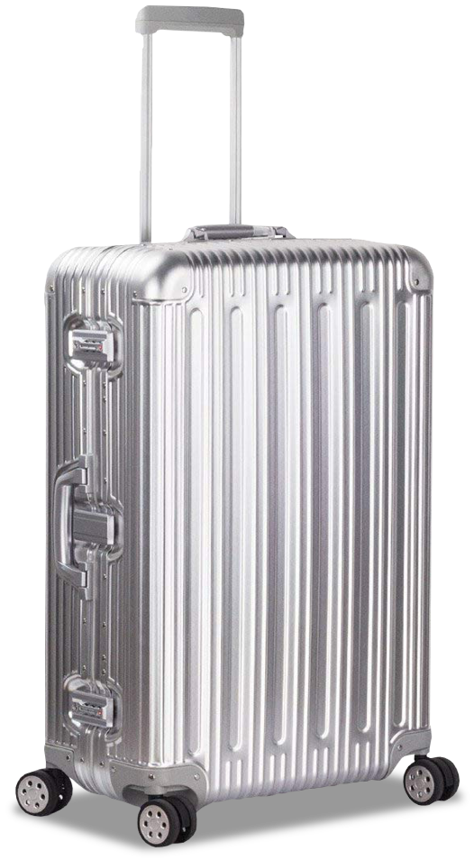 TravelKing Aluminum Spinner Suitcase