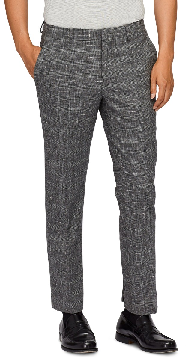 Bonobos Plaid Stretch Wool Trousers
