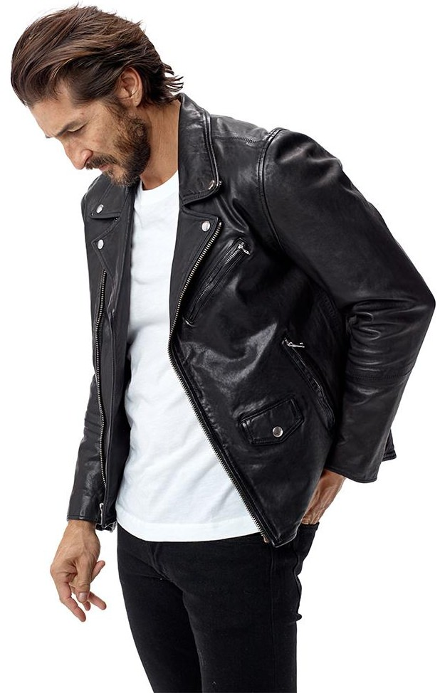 Buck Mason Bruiser Moto Leather Jacket
