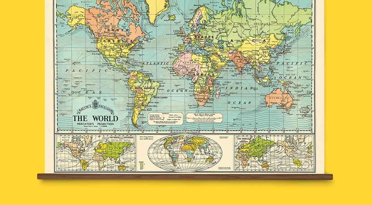 4004f6d5c50 Cavallini & Co. Papers World Vintage School Chart on Sale | Valet.