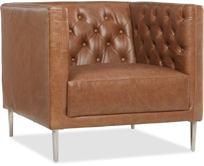 CB2 Savile Tufted Leather Chair