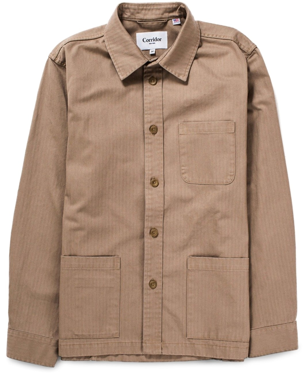 Corridor transitional herringbone overshirt jacket