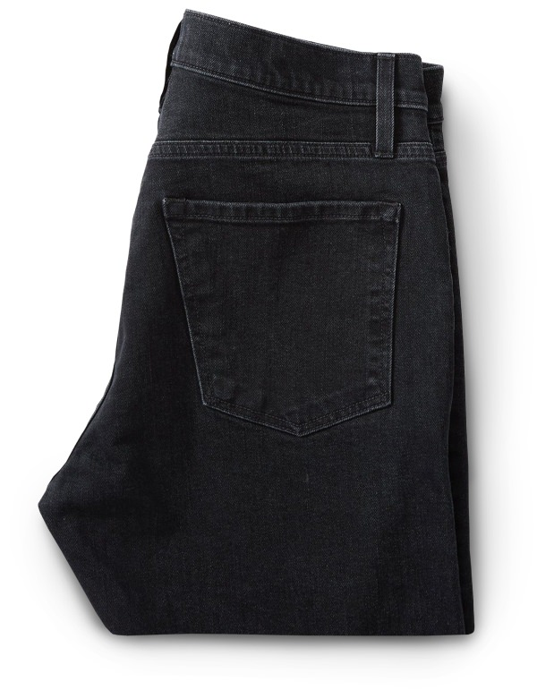 Flint and Tinder Stonewashed Black Stretch Jeans