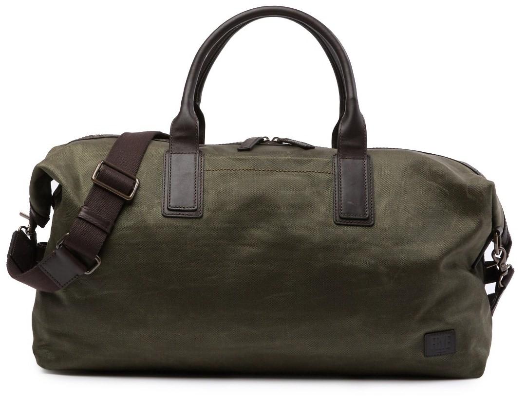 Frye Carter Leather Trimmed Weekender Bag