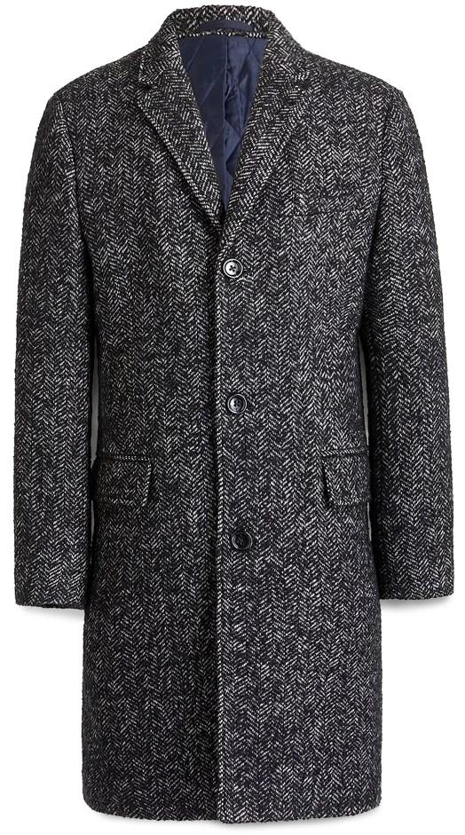 J.Crew Factory Wool Herringbone Overcoat