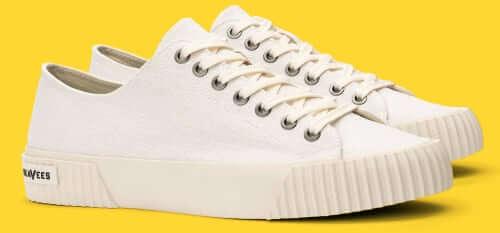 SeaVees Darby Sneaker Slub Linen White