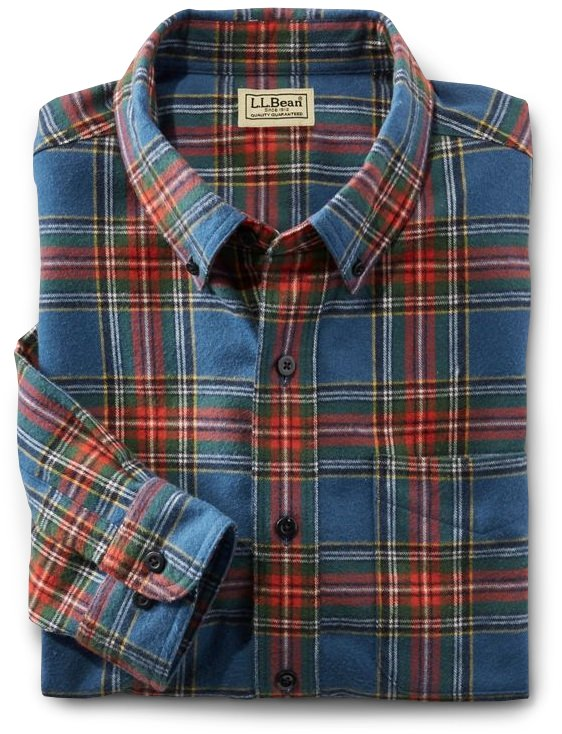 L.L.Bean Sctoch Plaid Flannel Shirt