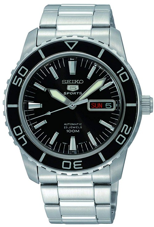 Seiko 5 Automatic Black Dial Watch