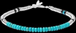 Mikia Silver and Turquoise Bracelet