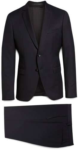 Boss Trim Fit Wool Suit