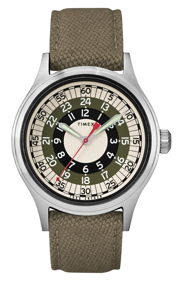 Timex x Todd Snyder The Mod Fabric Strap Watch