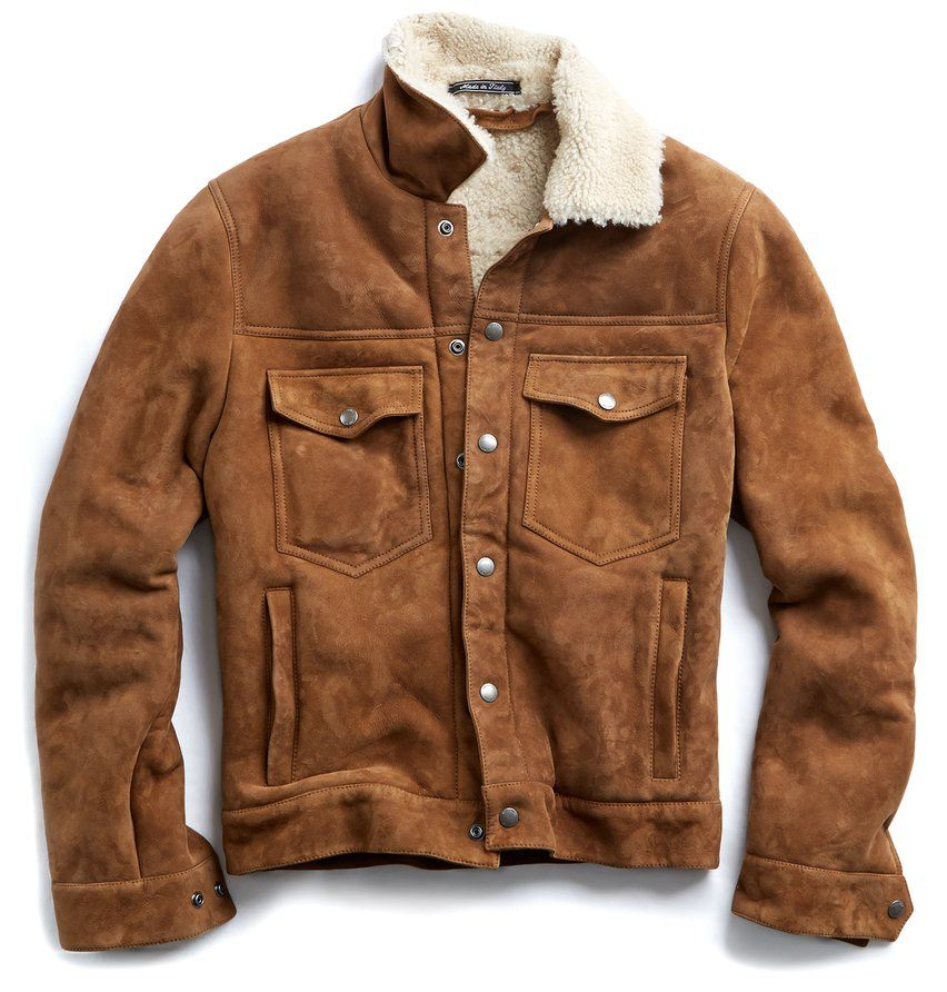 Todd Snyder Dylan Trucker Jacket in Brown