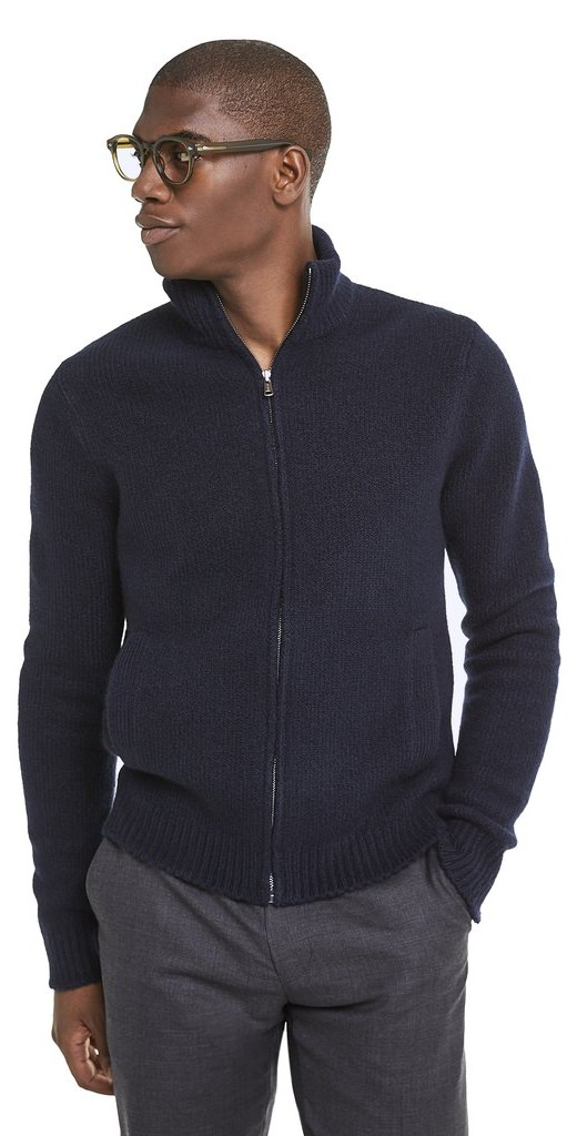 Todd Snyder Italian Boucle Full-Zip Sweater Jacket