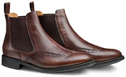 Moral Code Maxwell Brogued Chelsea Boots