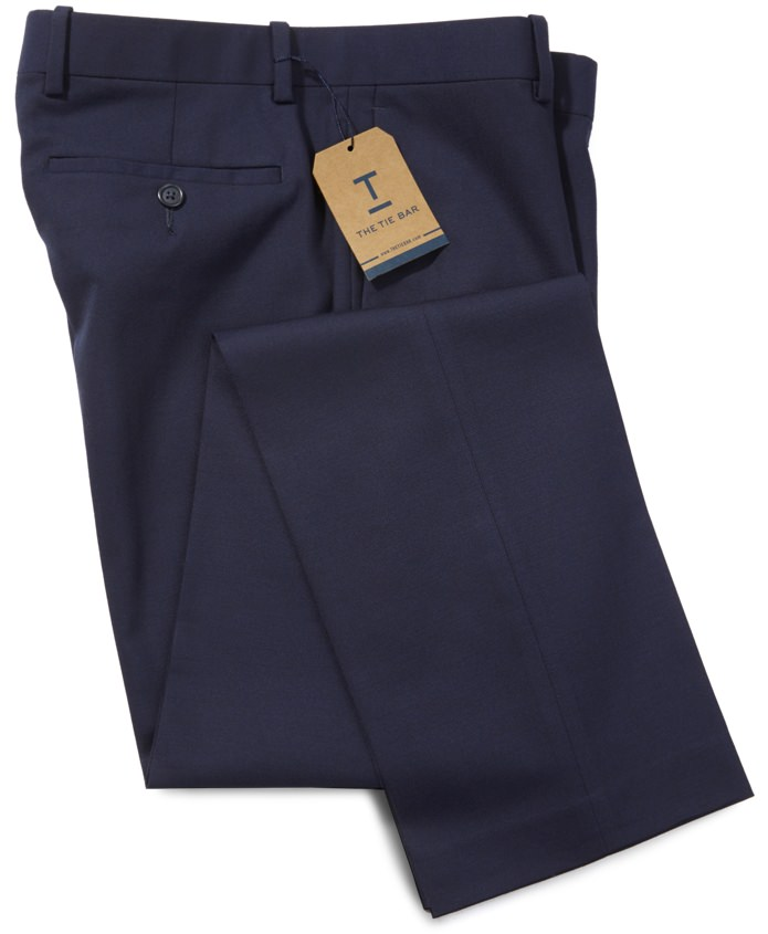 The Tie Bar Solid Wool Dress Pants