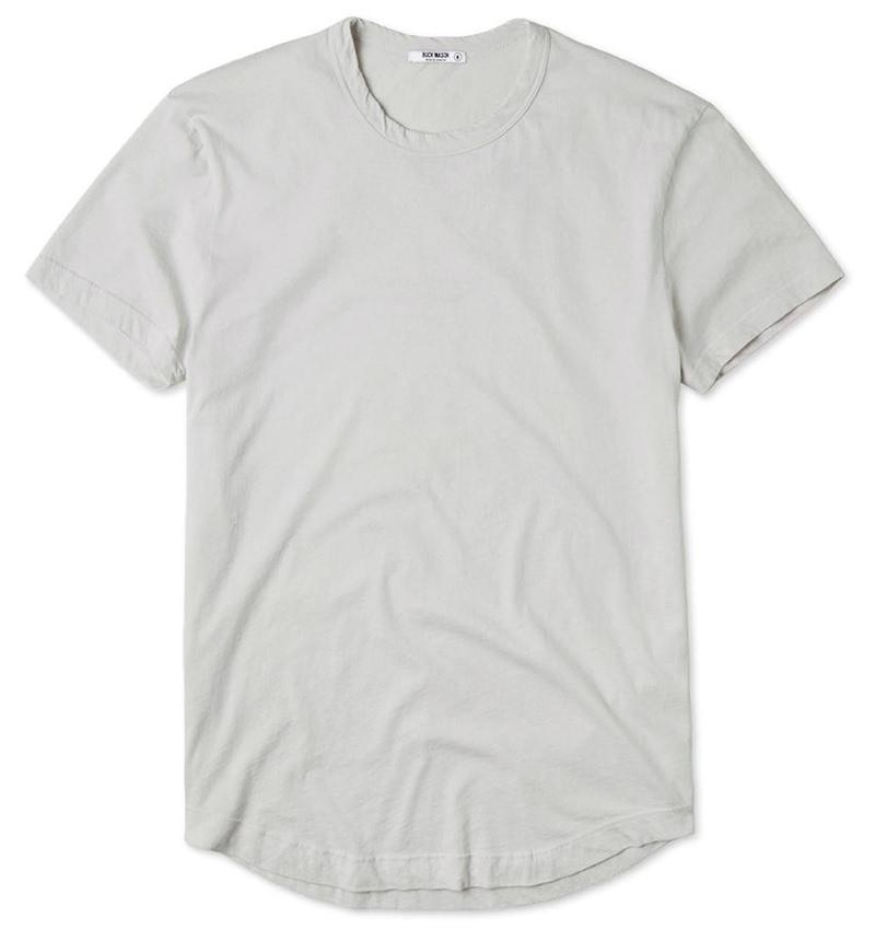 Buck Mason Slub Curved Hem T-Shirt