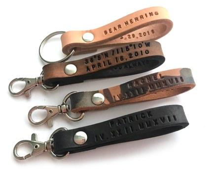 Made by Perri Custom Leather Keychain
