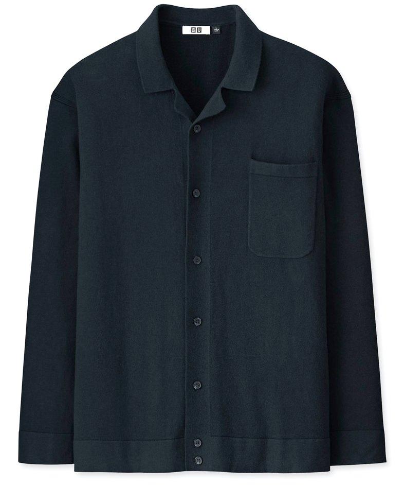 Uniqlo U Cotton Cashmere Long-Sleeve Shirt