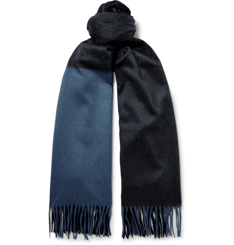 Begg & Co. Color-Blocked Cashmere Scarf