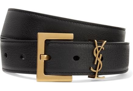 Saint Laurent Embellished Leather Belt