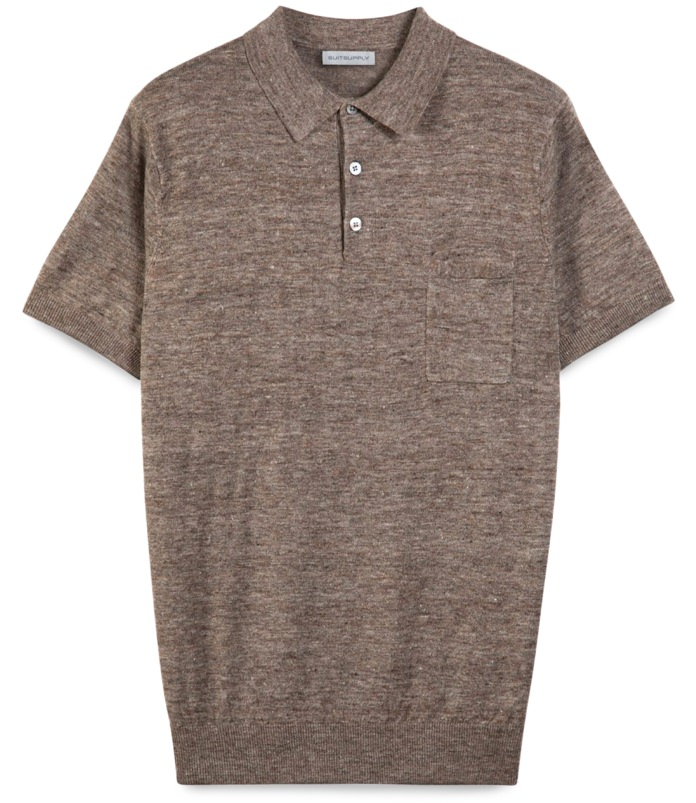 Suitsupply Knit Linen Polo