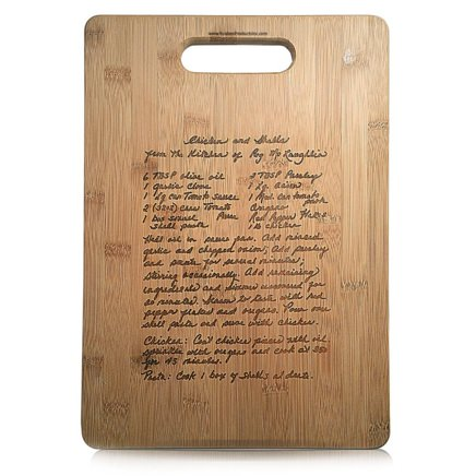 Kustom Products Custom Recipe Cutting Board