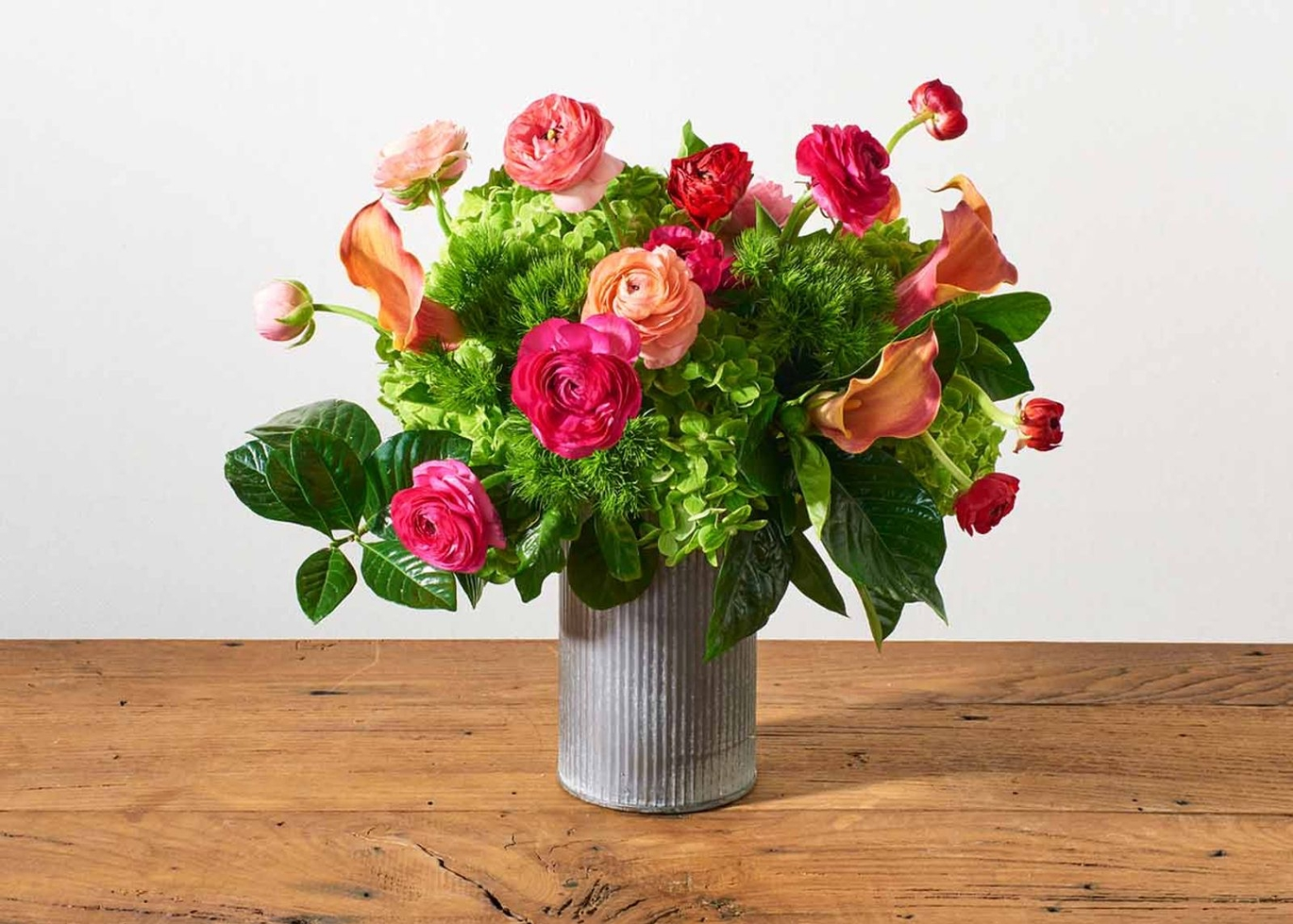 UrbanStems Ranunculus and Hydrangea Arrangement