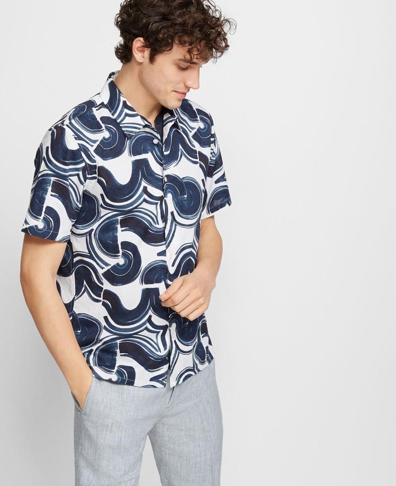 Club Monaco Slim Wave Shirt