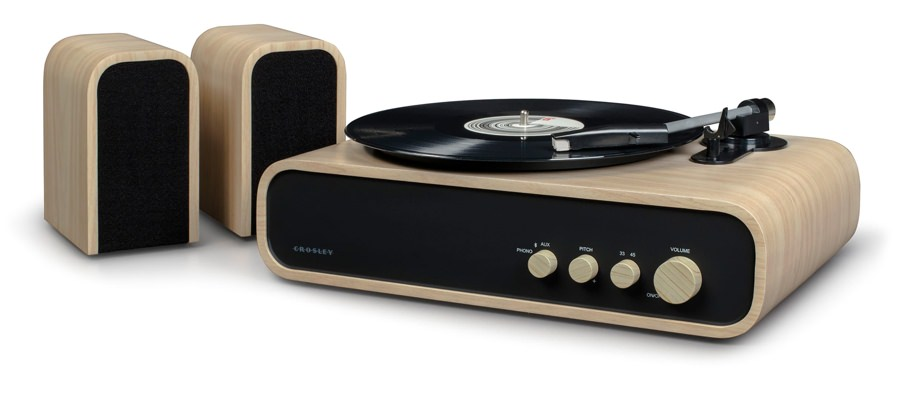 Crosley Midcentury Wood Record Player System