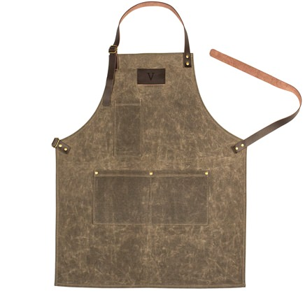 Cathy's Concepts Waxed Canvas and Leather Apron