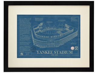 Uncommon Goods Framed Stadium Blueprint