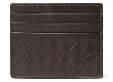 Bottega Veneta Woven Intrecciato Leather Cardholder