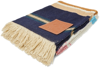 Loewe + Paula's Ibiza Striped Wool and Cotton Blanket