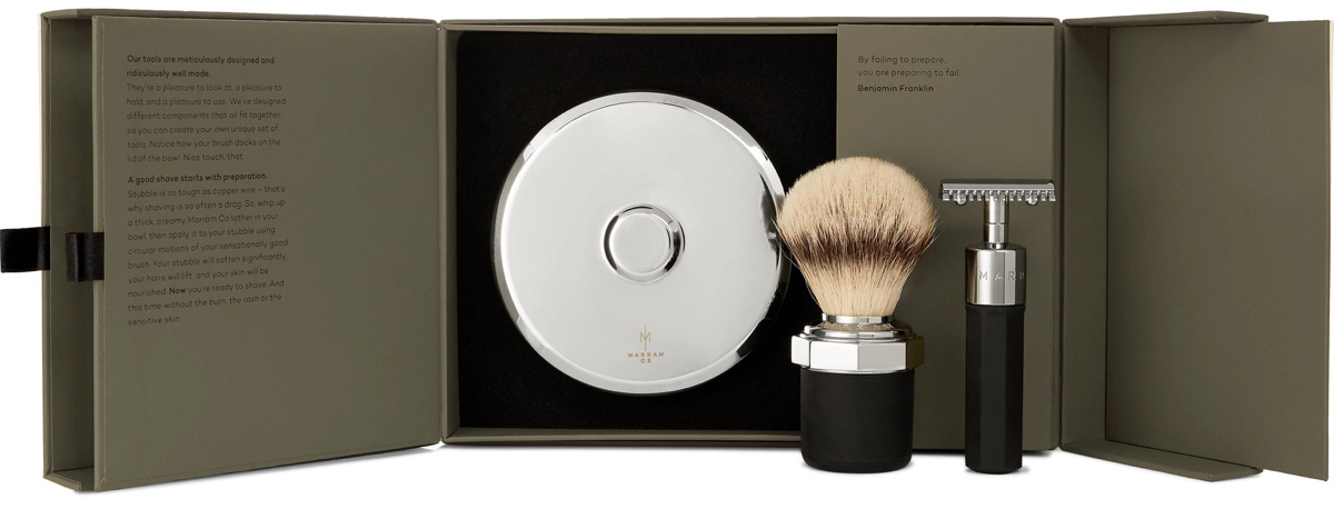Marram Co. Chrome-Plated Safety Razor Shave Set